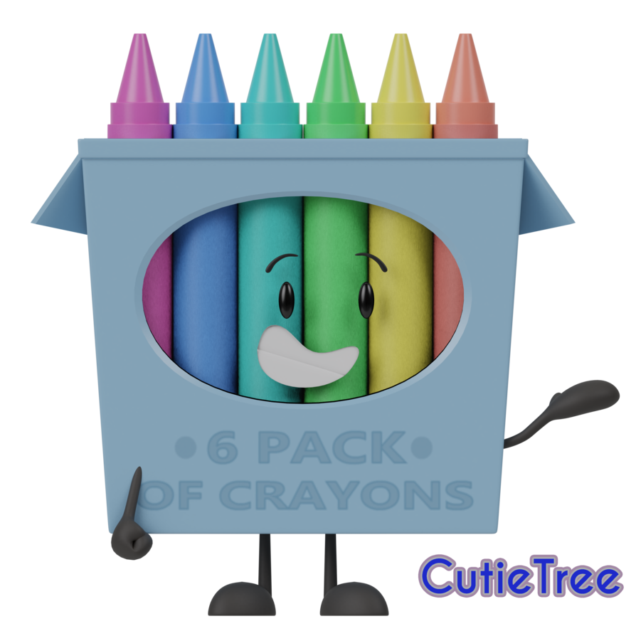 Objectshow of by cutietree. Crayons clipart open box
