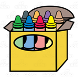 Crayon with eight . Crayons clipart open box