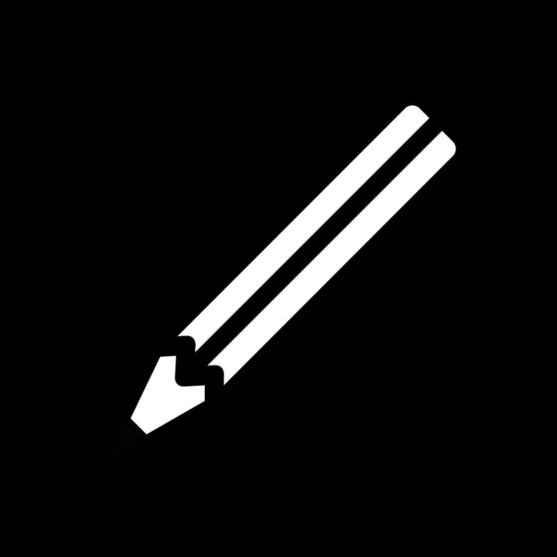 Crayon clipart outline. Clipartblack com tools free