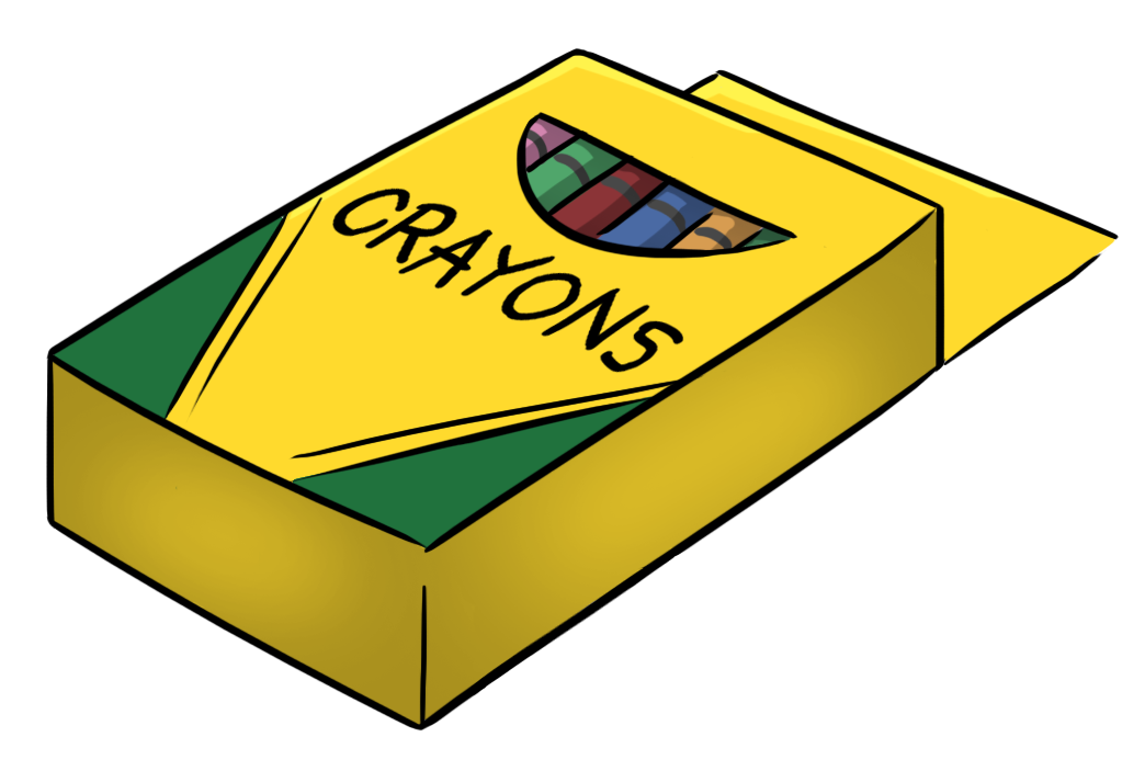 Crayons clipart open box.  of i hate