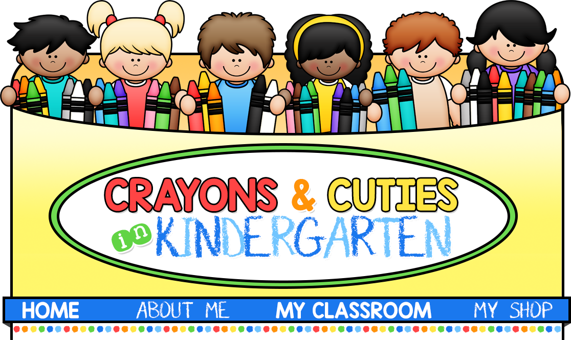 Crayons cuties in kindergarten. Writer clipart word work center