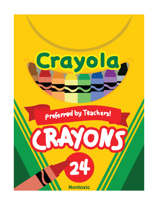 Crayon clipart packet. Png box transparent images