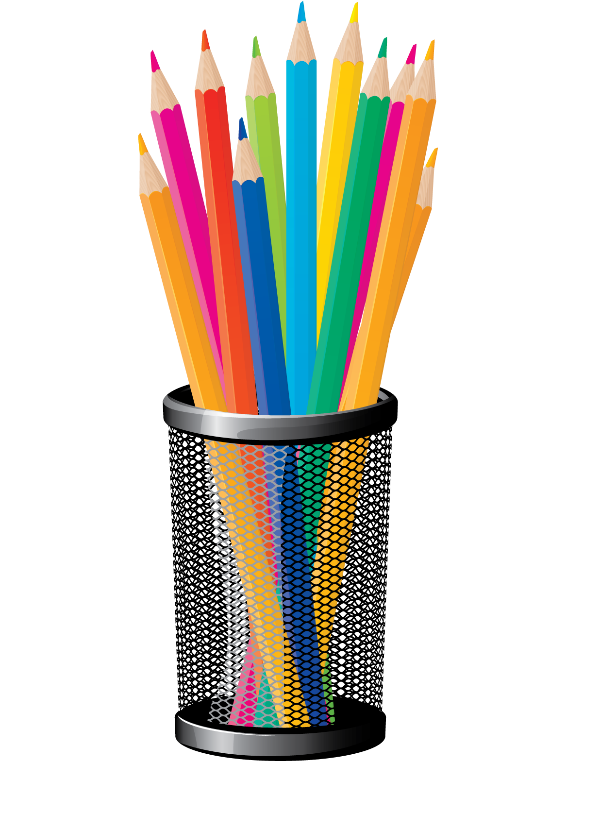 I can hear the. Crayons clipart pencil cup