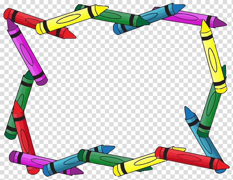 Crayons clipart picture frame. Assorted color crayon digital