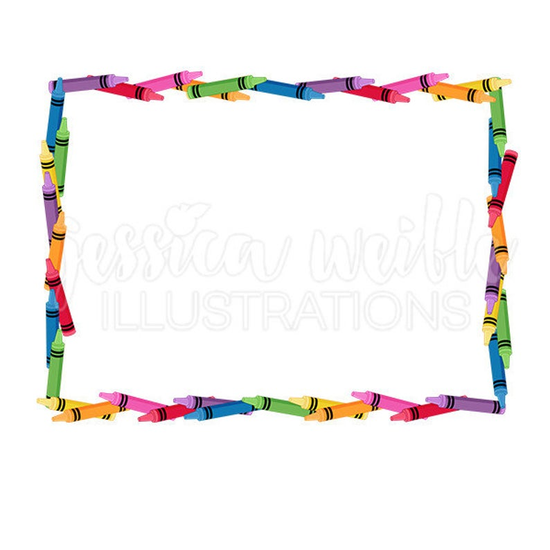 Clip art cute digital. Crayon clipart picture frame