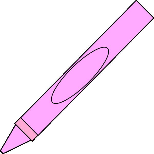 Crayons clipart pink. Crayon clip art at