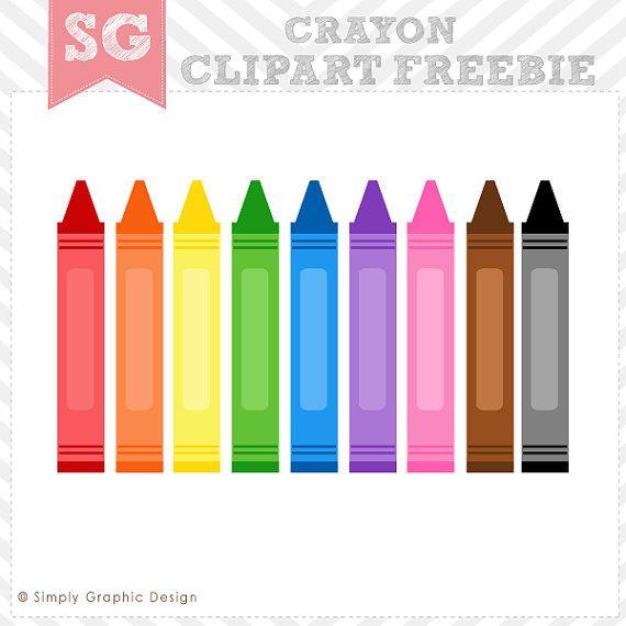 Crayon clipart printable. Items similar to free