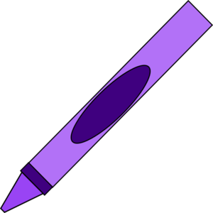 Clip art at clker. Crayon clipart purple crayon