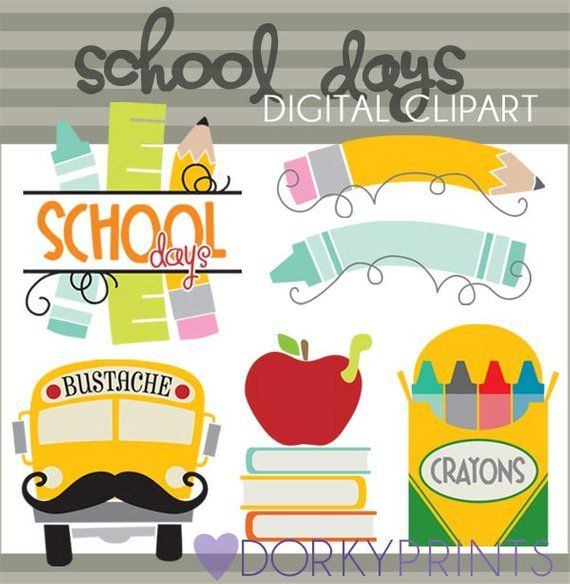 Back to personal and. Crayon clipart school day