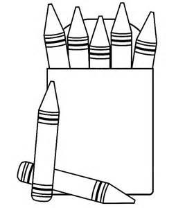 Box of crayons free. Crayon clipart shape