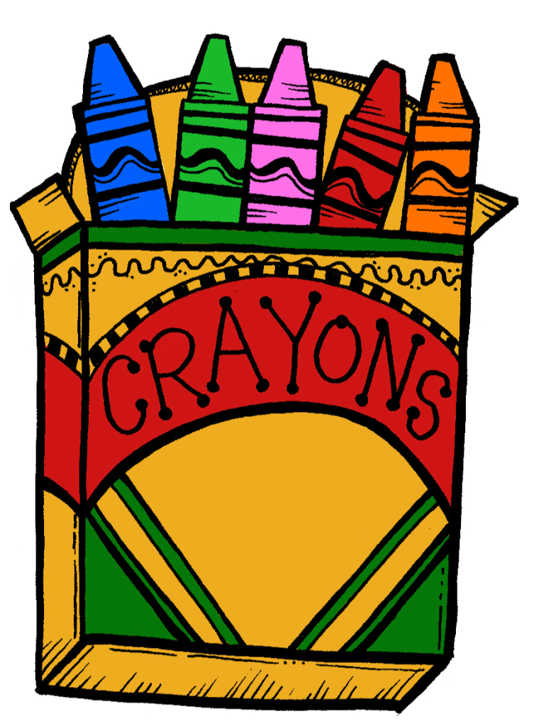 Crayons clipart face. Luxury of red crayon