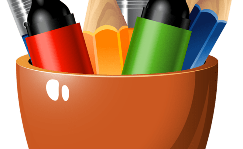 Painting supplies background clip. Crayon clipart suply