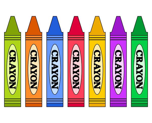 Free rainbow crayons cliparts. Crayon clipart suply