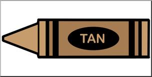 Crayon clipart tan. Clip art color i