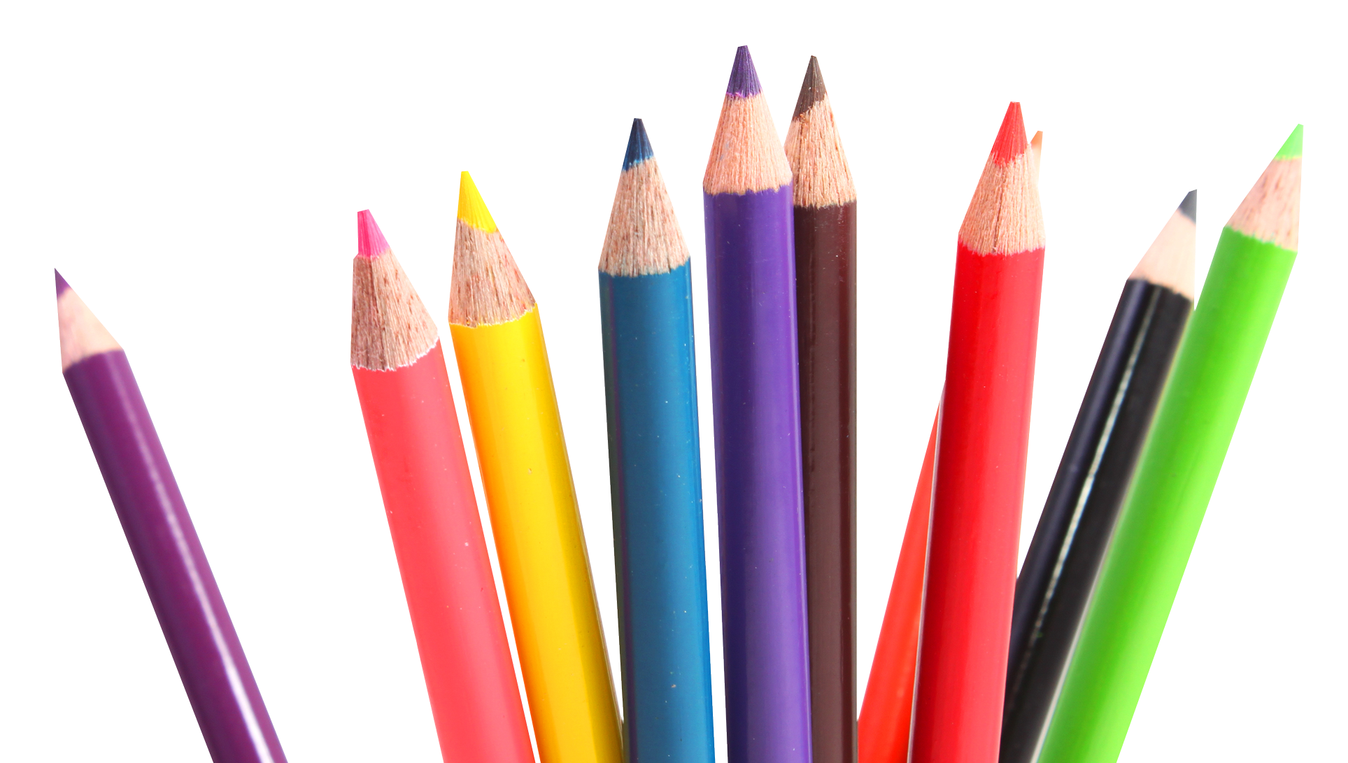 Multicolor crayons png image. Crayon clipart transparent background