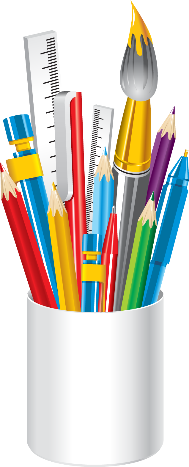 Crayon clipart transparent background. School supplies pictures free