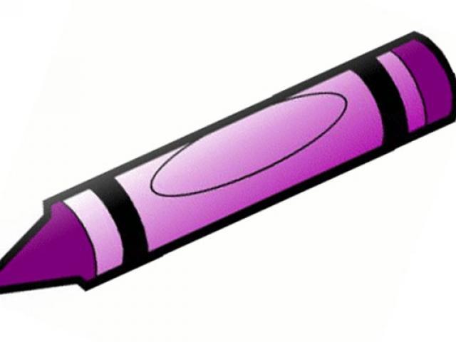 Station . Crayon clipart violet