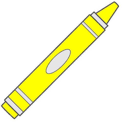 Crayon clipart yello. Yellow gclipart com