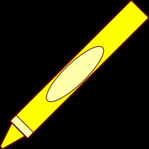 Crayon clipart yello. Clip art at clker
