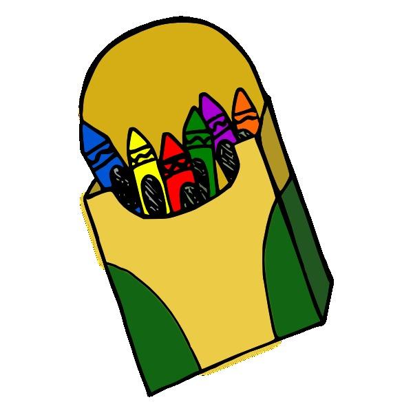 Crayola crayons panda free. Crayon clipart packet