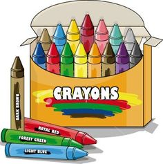Household pinterest clip art. Crayons clipart