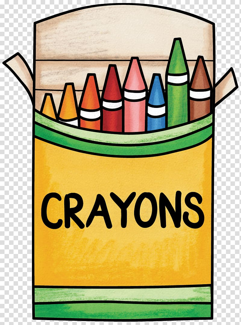 Yellow and multicolored crayons. Crayon clipart playgroup