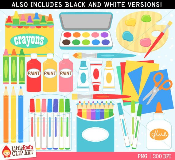 Supply clip products in. Crayons clipart art room