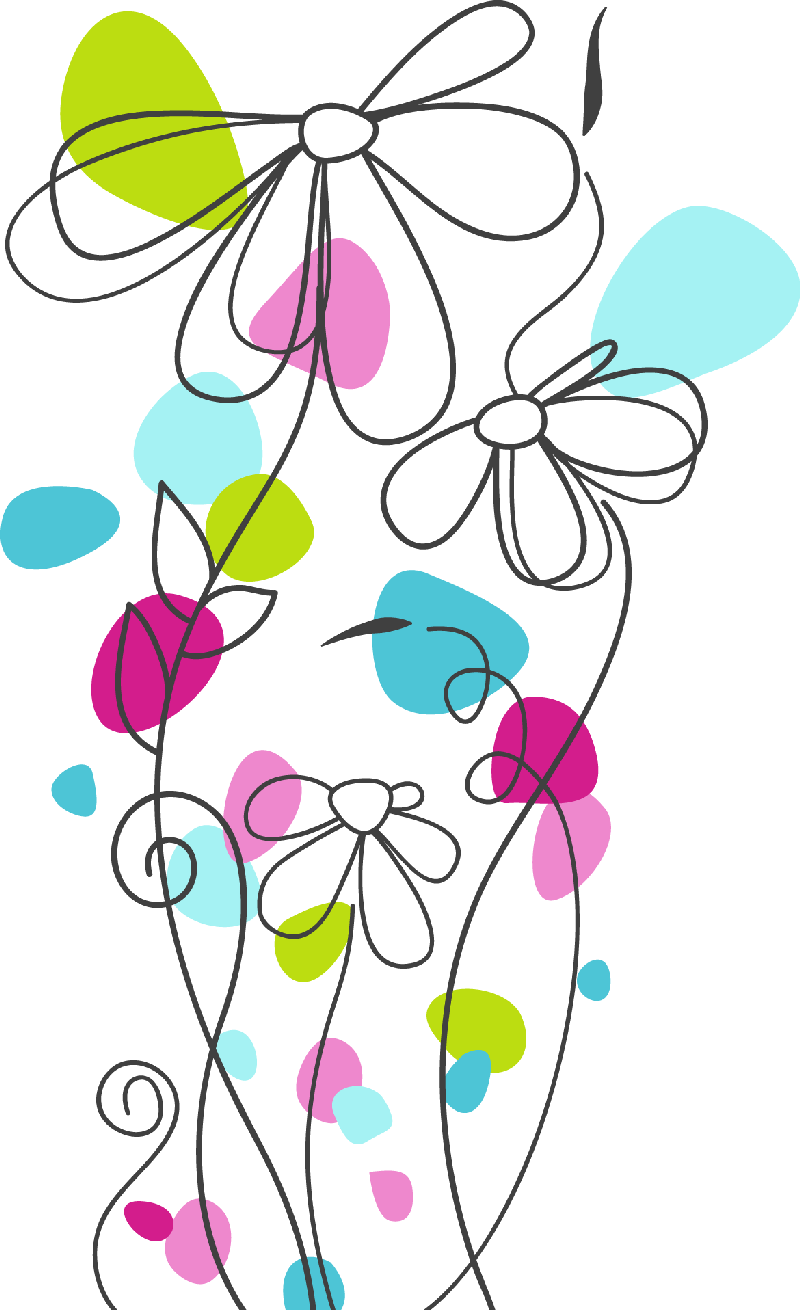 Pin by on pinterest. Flower clipart doodle