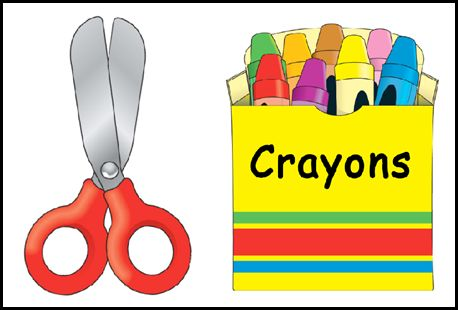 Black and white clip. Crayons clipart glue stick