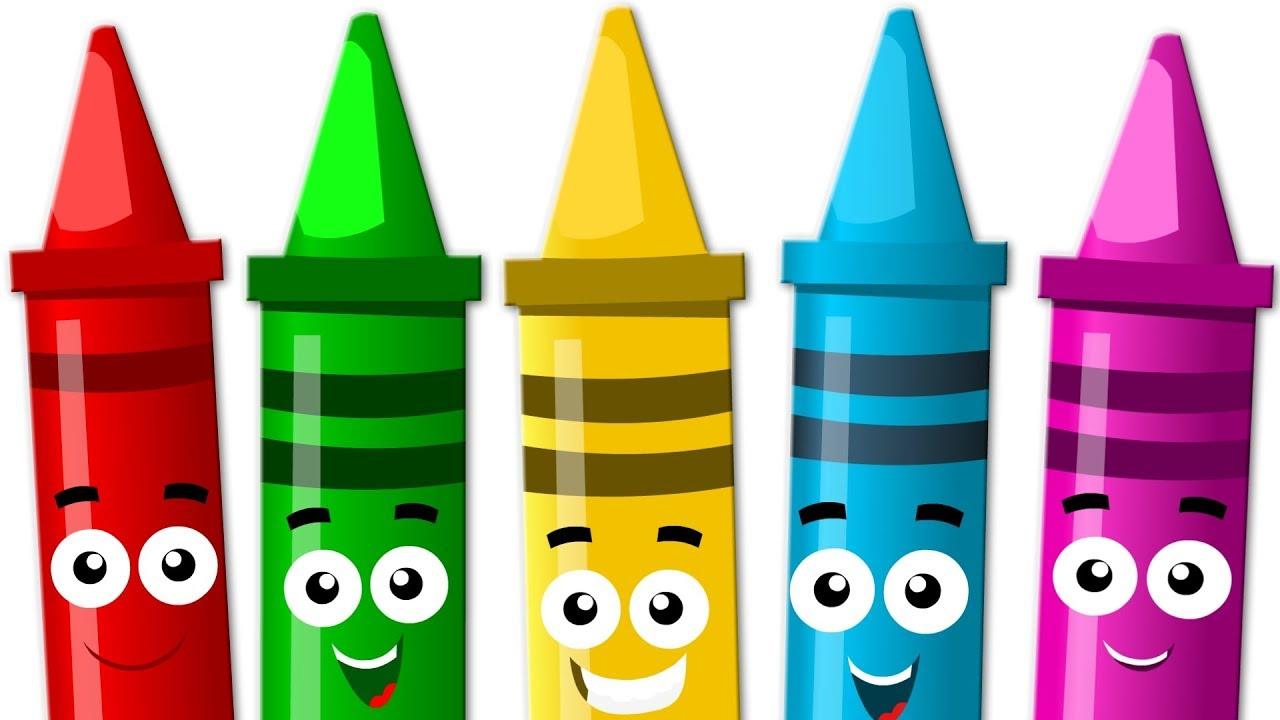 Crayons clipart kindergarten. Five little video for