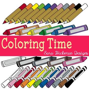 Crayons and colored pencils. Markers clipart pencil crayon