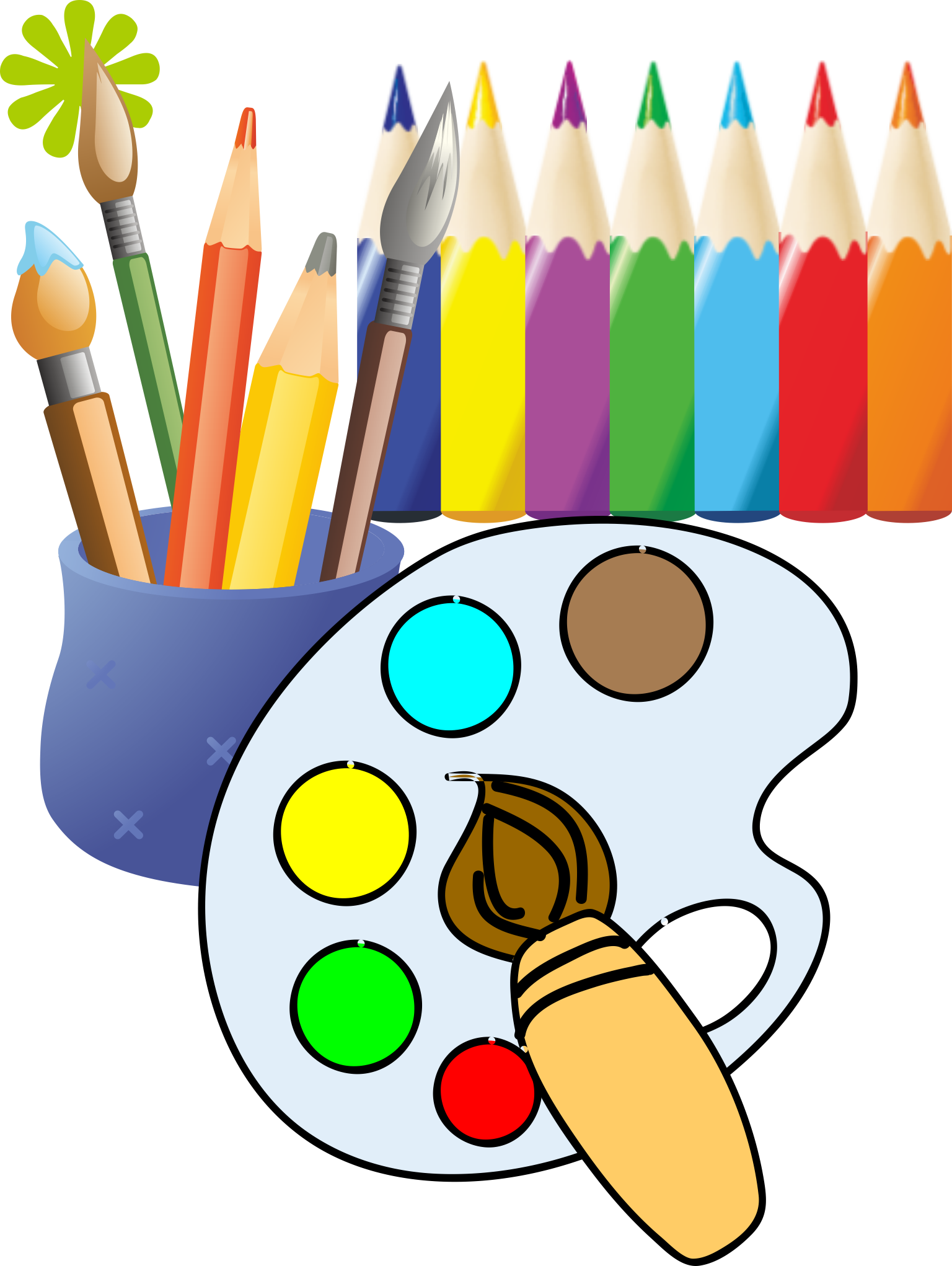 Paintbrush clipart artwork. Painting drawing clip art