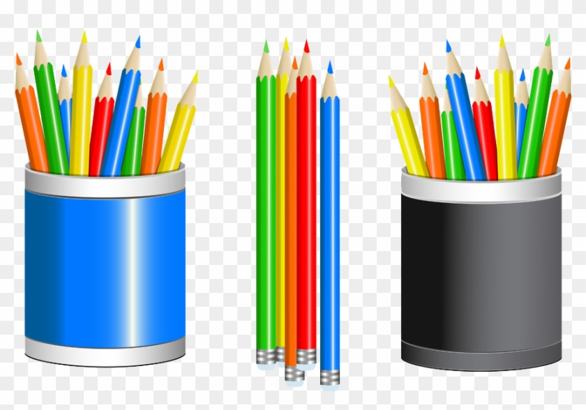 Crayons clipart pencil cup. Colored drawing clip cartoon