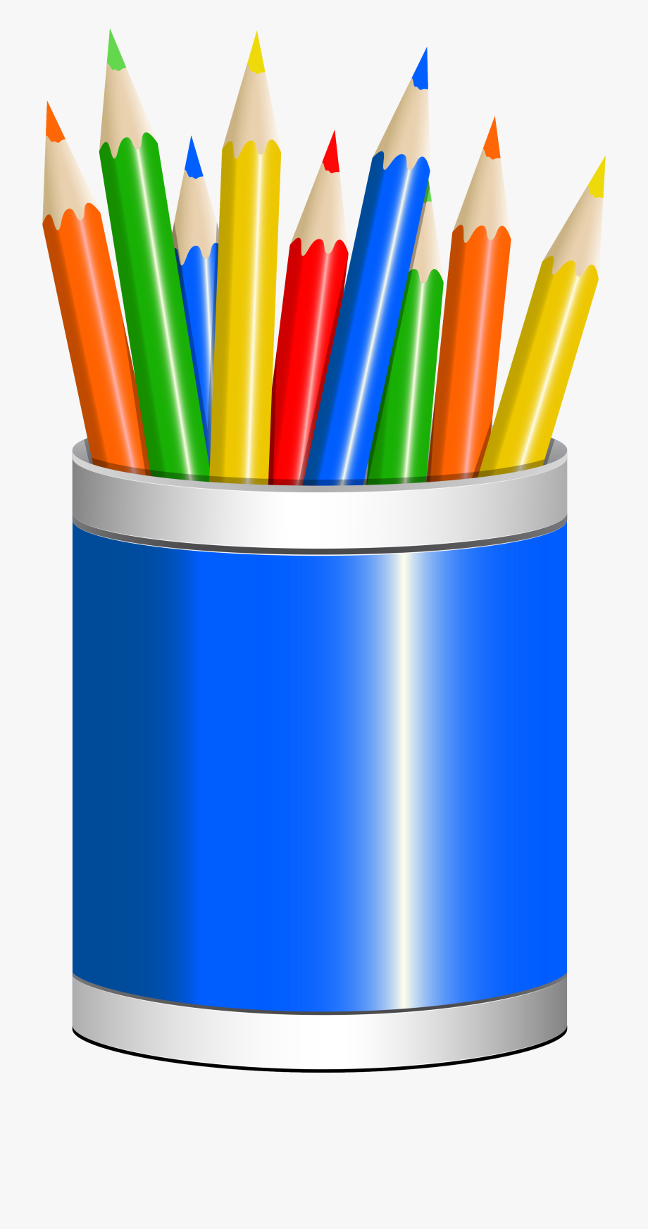 Clip art free stock. Crayons clipart pencil cup