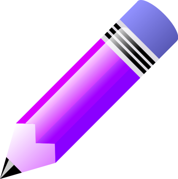 collection of pencil. Crayons clipart purple crayon