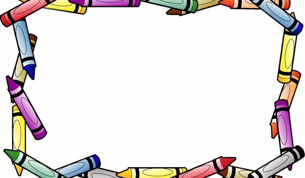 Border clip art download. Crayons clipart school