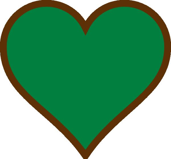 Hearts clipart crayon. Brown green heart clip