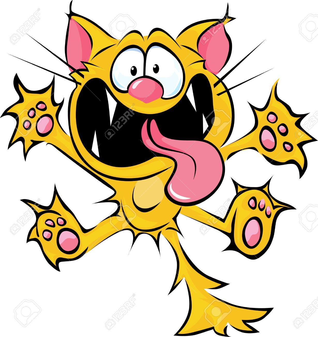 Cat cartoon hledat googlem. Crazy clipart