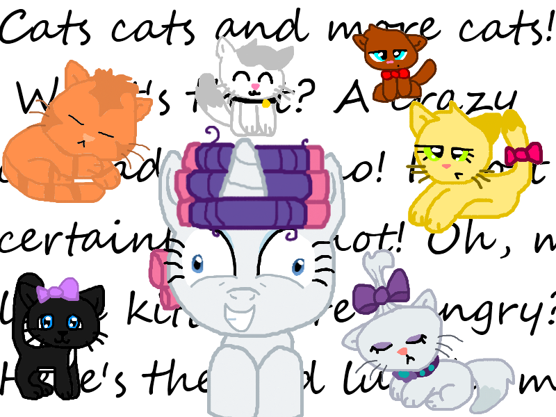 Rarity the cat by. Crazy clipart crazy lady