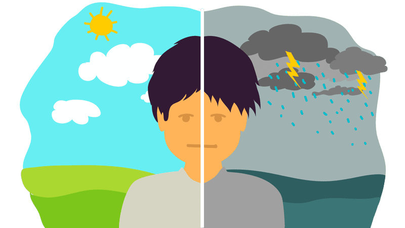 What is bipolar disorder. Shy clipart child depression