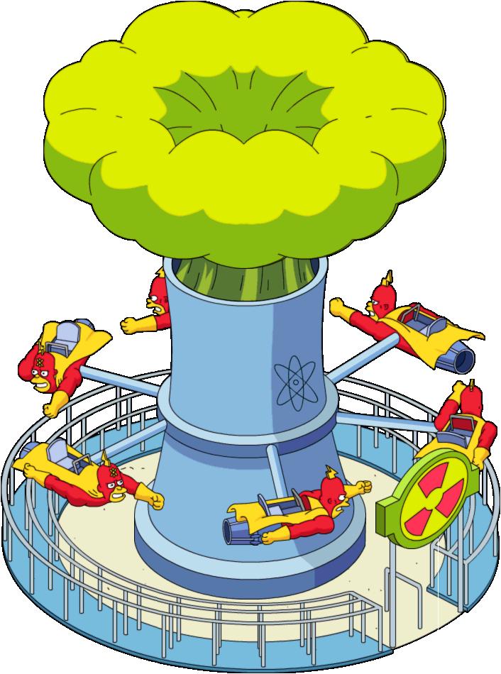 Palace clipart fish tank. Radioactive man the ride