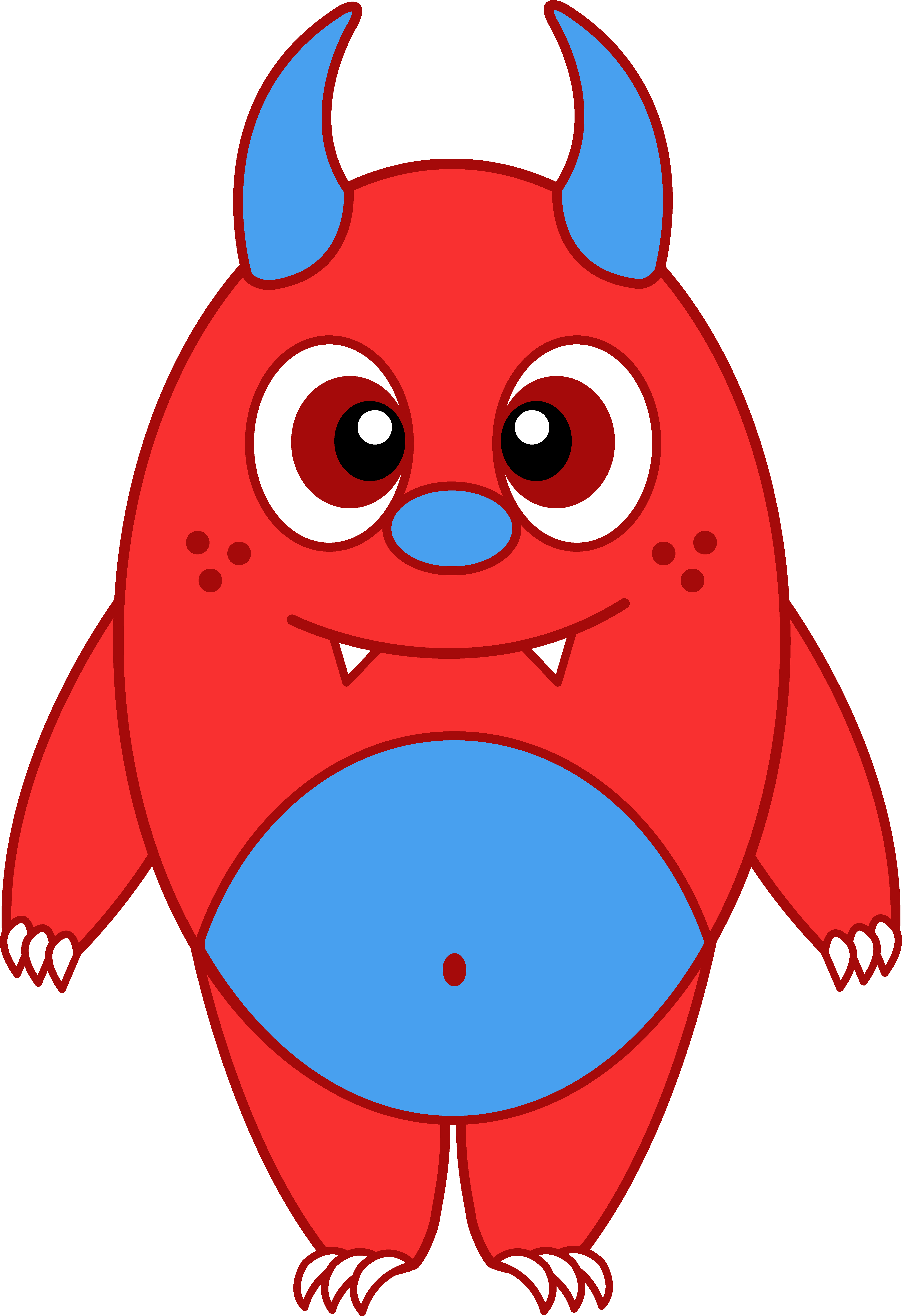 Monster clipart alein. Red panda free images