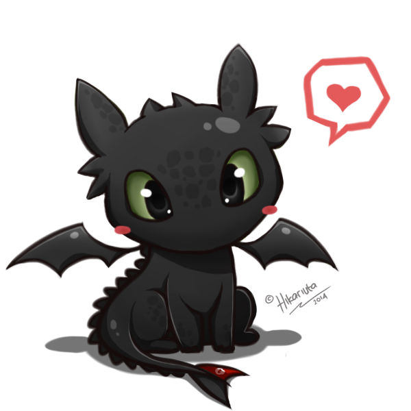 Toothless chibi how to. Dragon clipart smaug