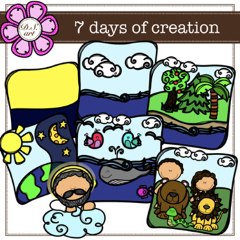Creation clipart.  days of color