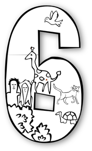Day png svg clip. Number 6 clipart creation number