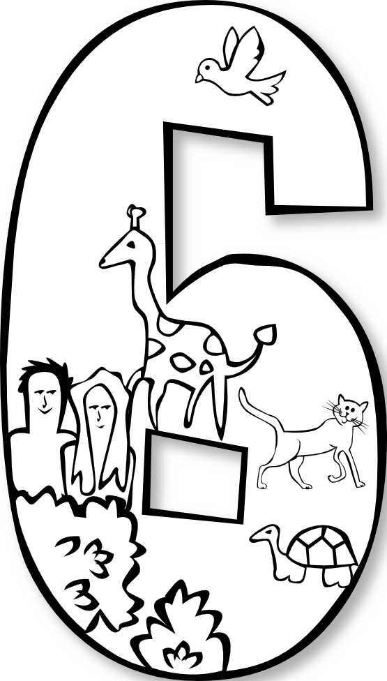 Coloring page genkilife info. Creation clipart 6th day creation