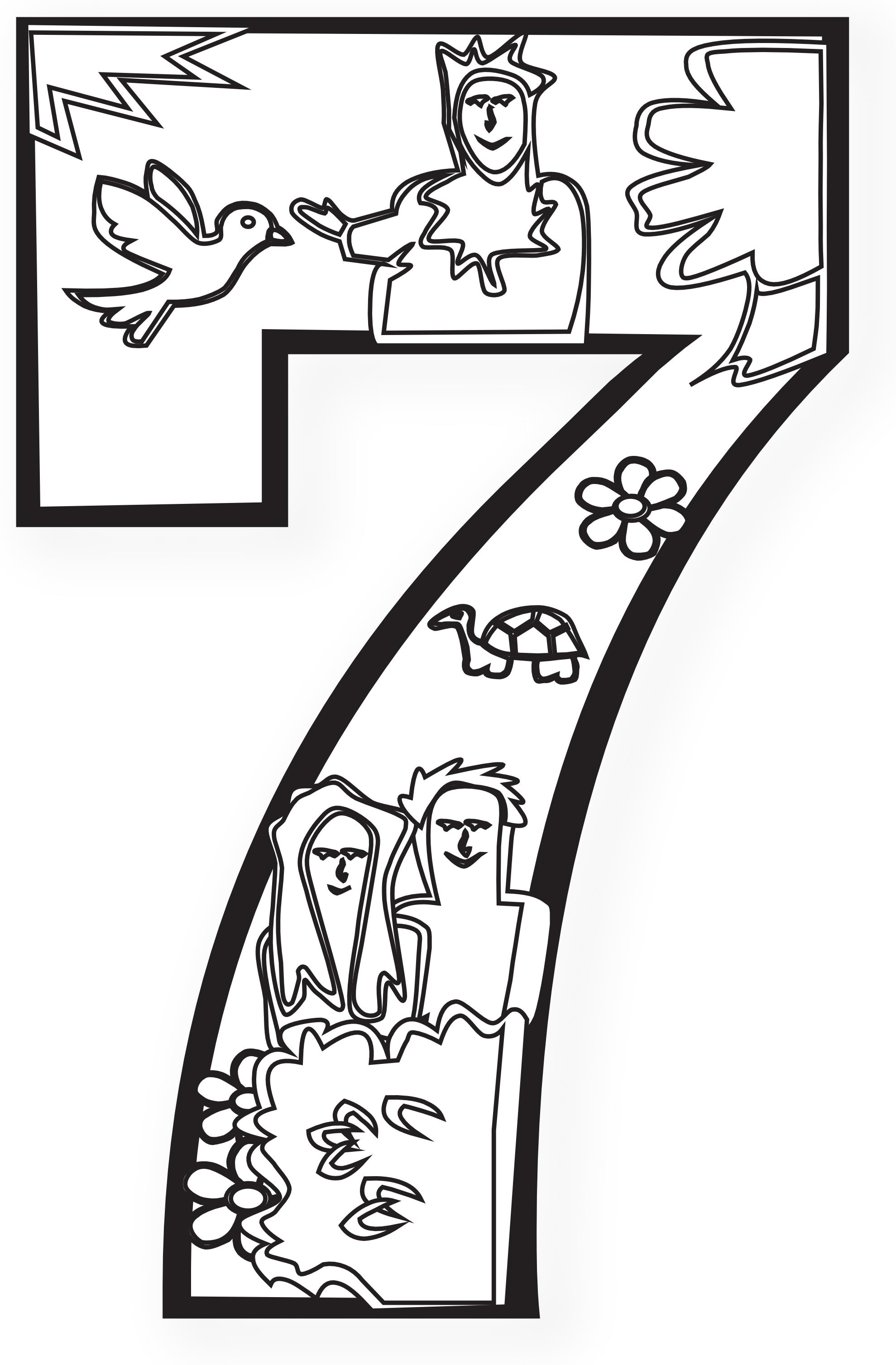 th coloring pages. Creation clipart 6th day creation
