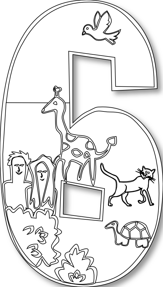 Creation clipart 6th day creation. Days of coloring pages