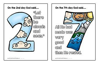 creation clipart 7th day