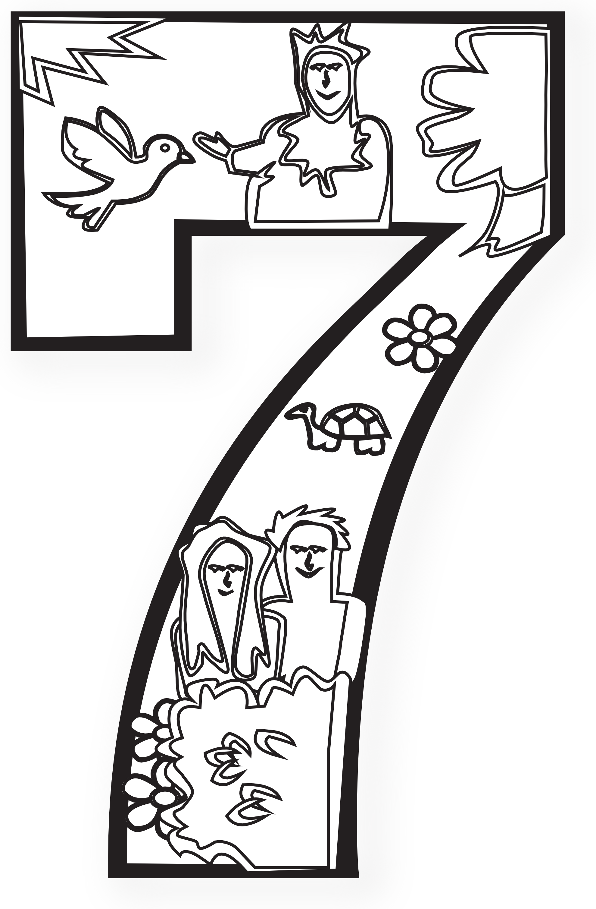 Creation clipart day 5. Days of coloring pages